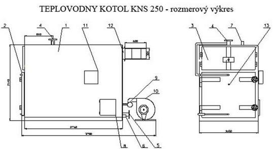 Komes a.s., Teplovodný kotol KNS 250